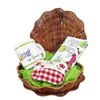 Pack para regalar a las madres; estuche, taza, monedero y block