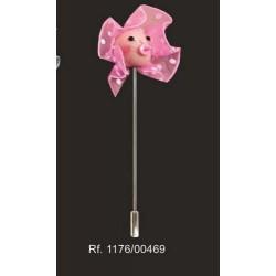 Alfiler cabeza bebe rosa