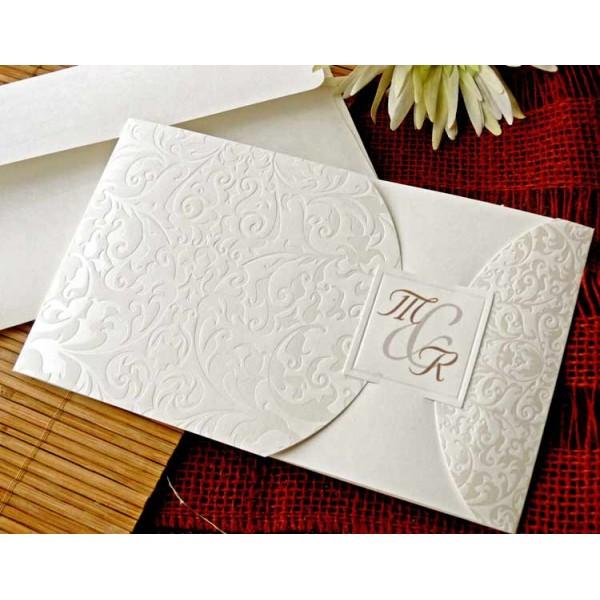 invitacin de boda original y elegante de color blanco - Invitaciones De Boda Elegantes