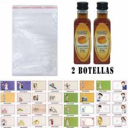 Licor Vodka Caramelo en bolsa celofan y tarjeta