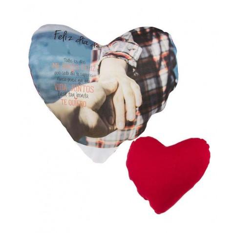 Cojín personalizado corazón para regalos