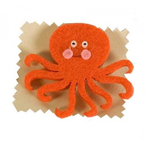 Broche fieltro Pulpo