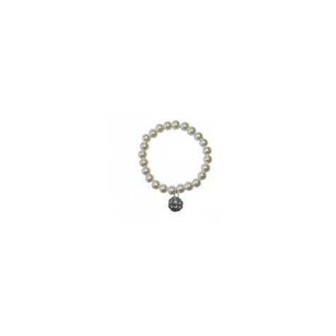 Pulsera perlas con colgante