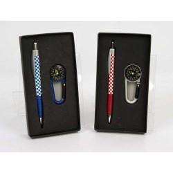 Estuche bolígrafos brújula llavero surtidos (precio unidad)