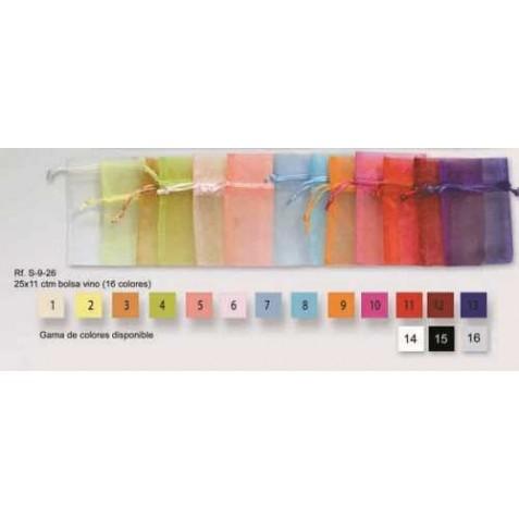 Bolsa Organza (medidas: 25x11cm) colores vino surtidos