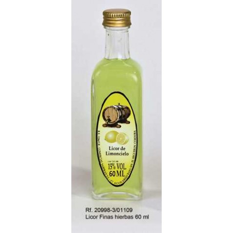 Botellita Licores Orujo de Limoncielo - 60 ml - Sin decorar