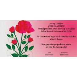Invitacion de boda rosa