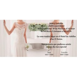 Invitacion de boda novia