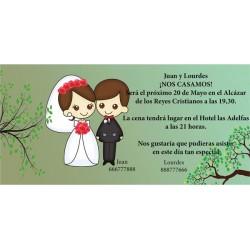 Invitacion de boda original con novios