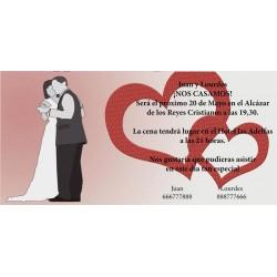 Invitacion de boda baile