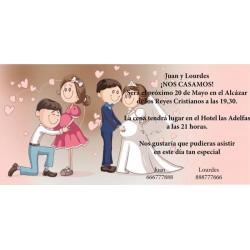 Invitacion de boda novia embarazada
