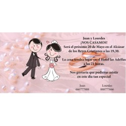 Invitación original de boda alianzas