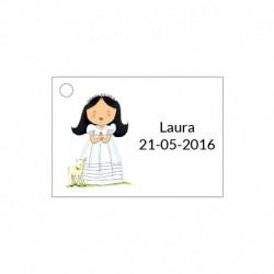 Tarjeta para ceremonia de niña