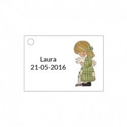 Tarjeta para detalles de ceremonia para niña