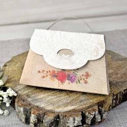 Invitación de boda original forma de bolso