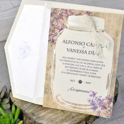 Invitación de boda original elegante y barata
