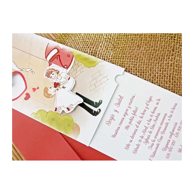 495637d46455 Invitación de boda original y barata romeo y julieta