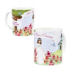 Tazas personalizadas regalos de comunión niña