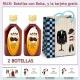"""2 Botellitas de Licor de Café con bolsa """"charlestón"""" y tarjeta"""